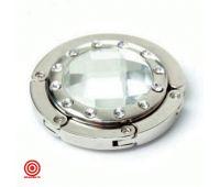 Складной крючок для сумок серебристый