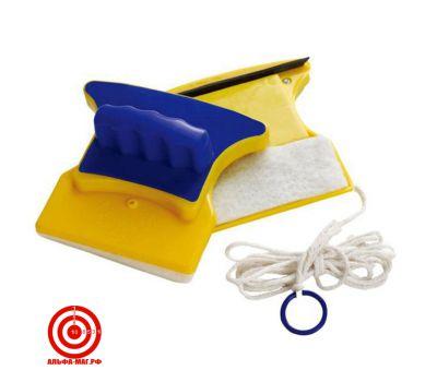Магнитная щетка для мытья окон толщиной  до 5 мм