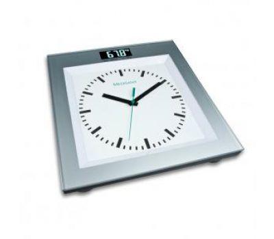 Весы напольные электронные Medisana PSA (Медисана) со встроенными аналоговыми часами