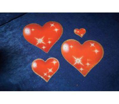 Набор магнитов на свадебную машину Сердца