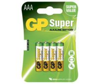 Батарейки GP Super Alkaline AAА блистер 4шт