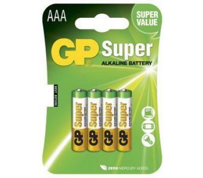Батарейки GP Super Alkaline AAА блистер 4шт