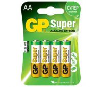 Батарейки GP Super Alkaline AA блистер 4шт