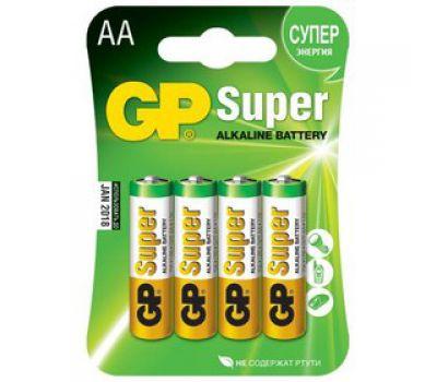 Батарейки GP Super Alkaline AA блистер 4шт