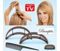 Бампит заколка - подставка для придания объема волосам (Скарлет)